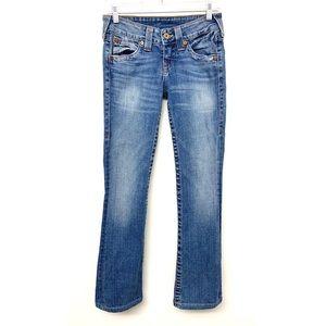 True Religion Medium Wash Slim Bootcut Jeans 26